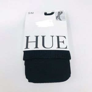 HUE Boot Socks and Sweater Tights In One S/M Black